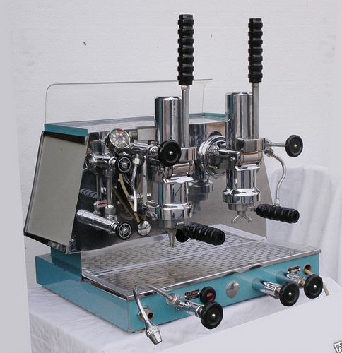 Now Mostly Characteristic Of The Showpiece High End Designs La Pavoni Piston Driven Espresso Maker Is Archetype Modern Machine